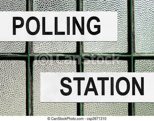 Polling station - csp3971310