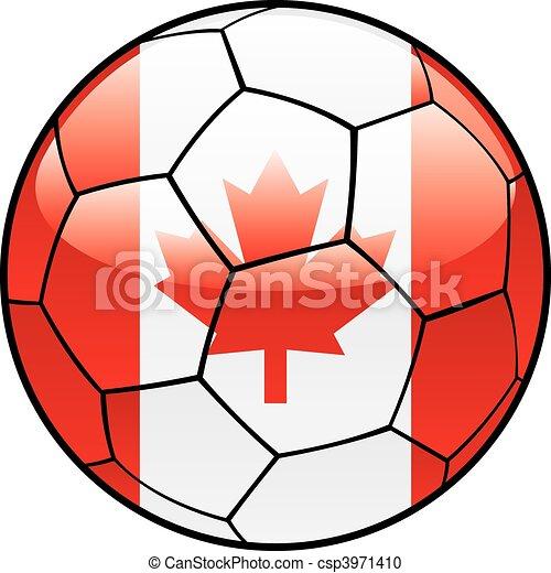 Canada flag on soccer ball - csp3971410
