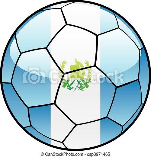 Guatemala flag on soccer ball - csp3971465