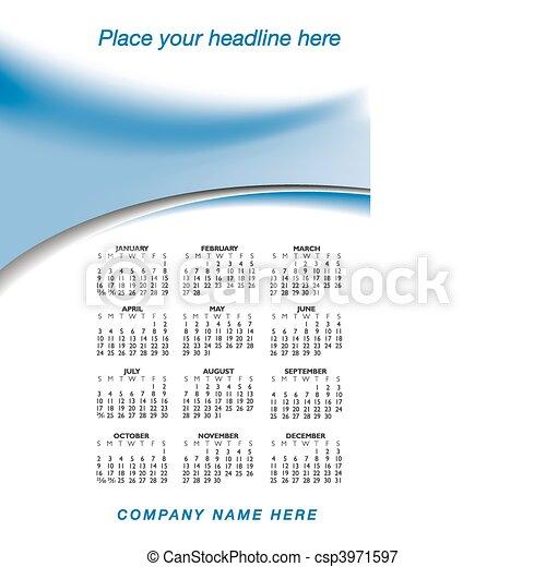 2011 stylish calendar - csp3971597