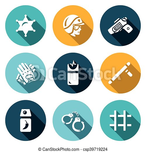 Vector Set of Police Icons - csp39719224