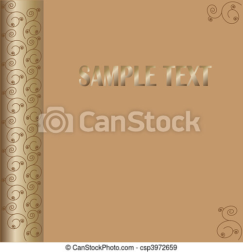 brown procurement cards for your text floral pattern - csp3972659