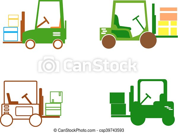 Forklift - icons - csp39743593