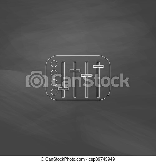 Sound Mixer computer symbol - csp39743949