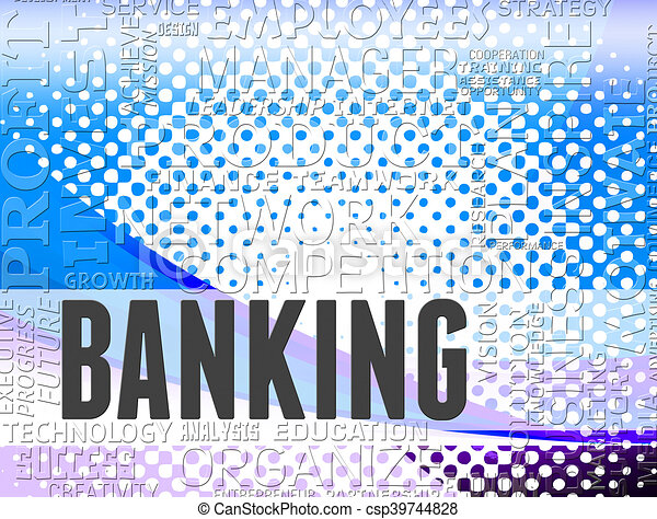 Banking word shows online bank and ebanking - csp39744828