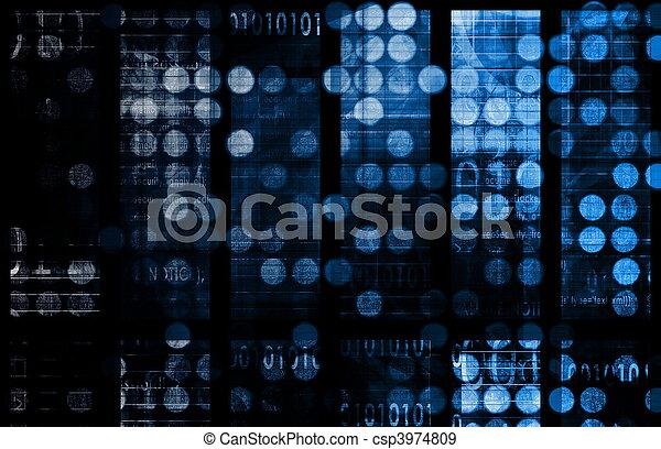 Daten, vernetzung - csp3974809