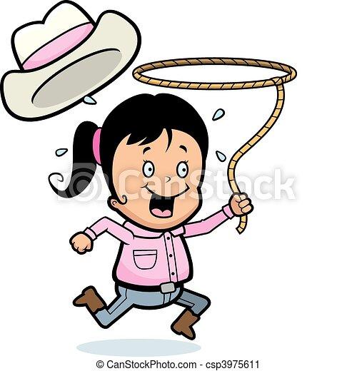 Rodeo Girl - csp3975611