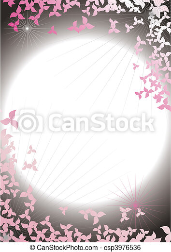 Abstract framework from petals on a background of the night sky - csp3976536