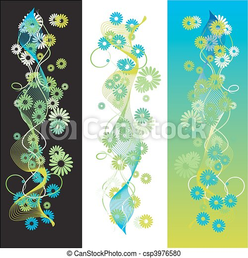 Abstract summer background, retro scroll - csp3976580