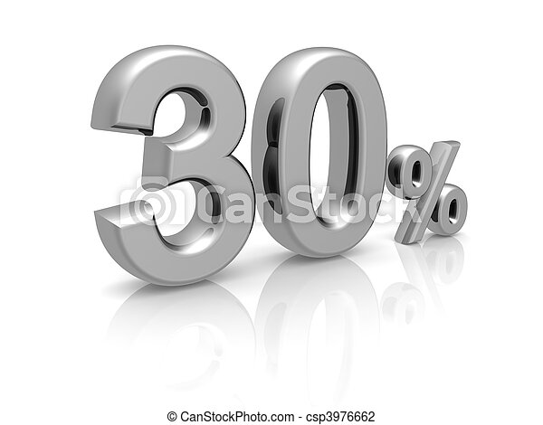 30 percents discount symbol - csp3976662