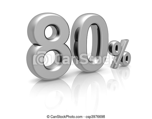 80 percents discount symbol - csp3976698