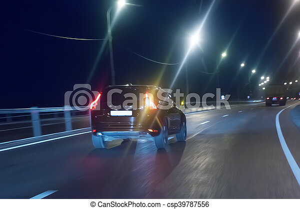 modern cars go on night city