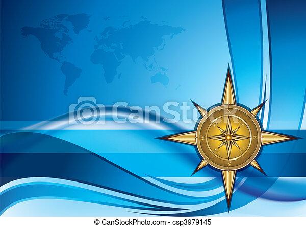 Gold compass - csp3979145