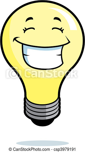 Light Bulb Smiling - csp3979191