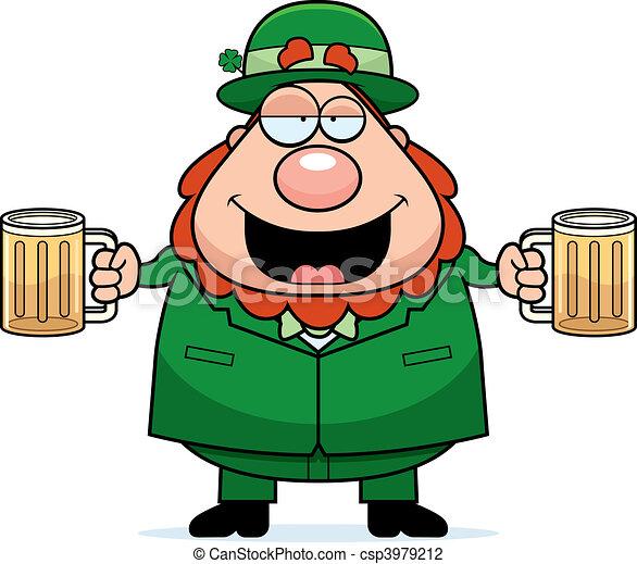 Leprechaun Drunk - csp3979212