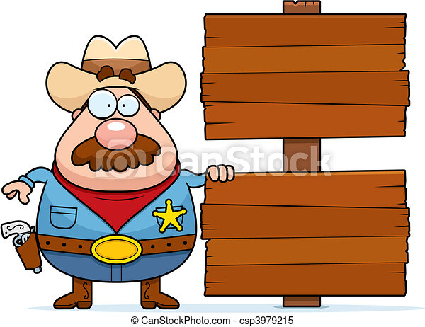 clipart vector of sheriff sign a cartoon sheriff Free Cowboy Clip Art Borders cowboy cowgirl clipart free
