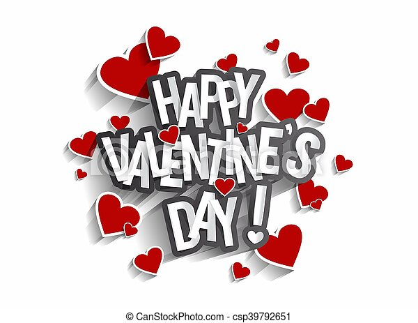 Happy Valentine\'s Day Greeting Card vector illustration