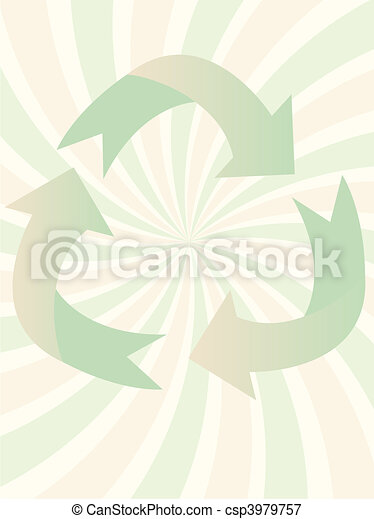 Swirl Recycling Symbol vector illus - csp3979757