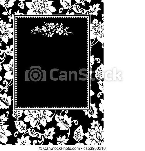 Vector Black Twig Frame - csp3980218