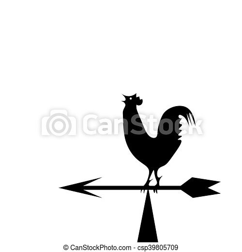 Weather vane in the form of a rooster - csp39805709