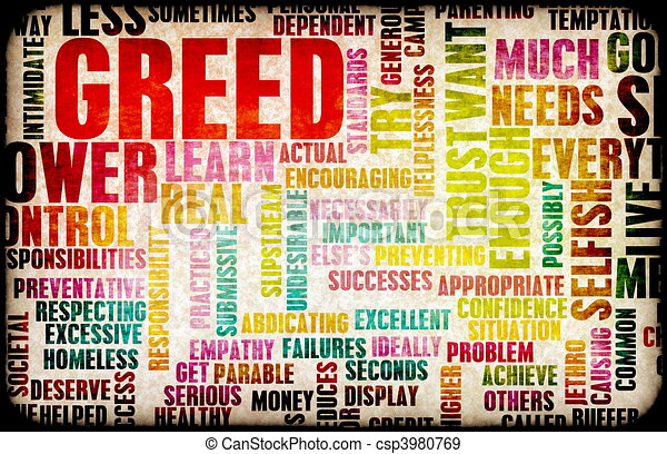 Greed - csp3980769