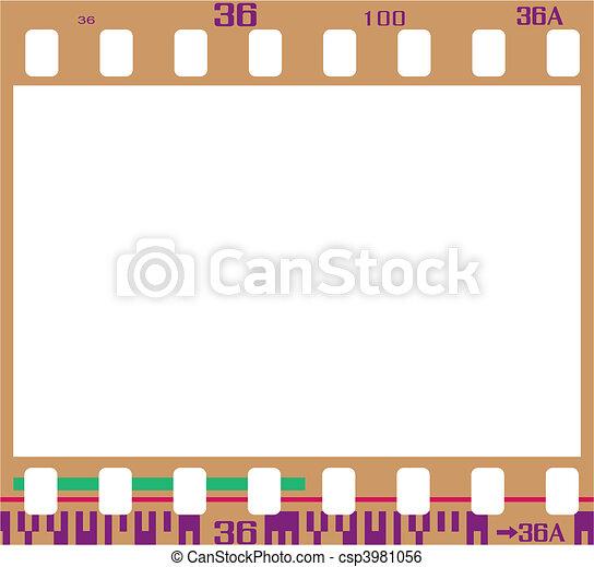 negative film frame - csp3981056