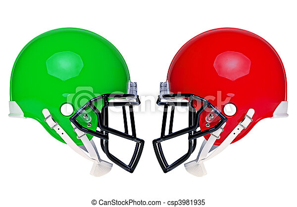 American football helmets isolated - csp3981935