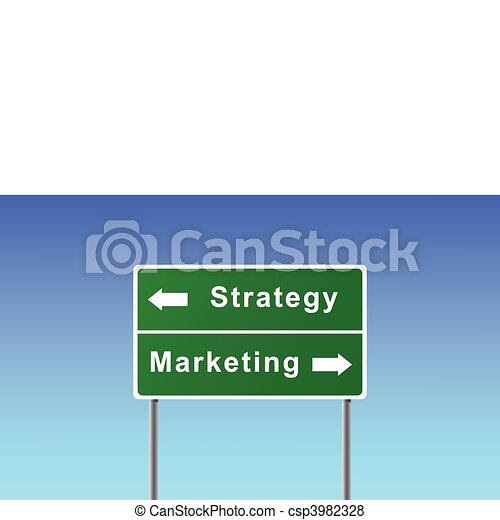 Sign strategy marketing. - csp3982328