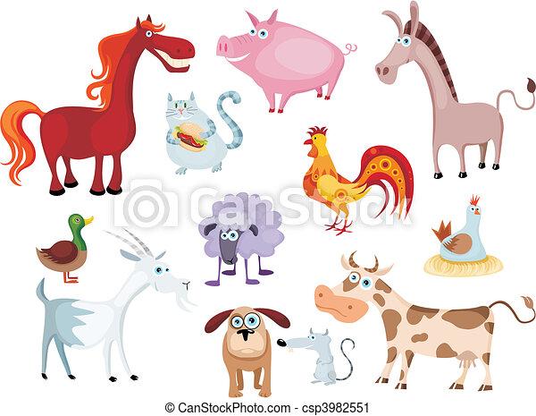new farm animal set - csp3982551