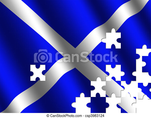 Scottish flag jigsaw - csp3983124