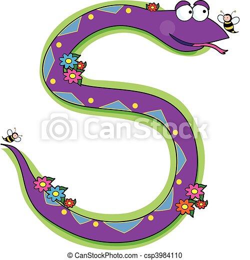clipart vecteur de alphabet  serpent  animal a  serpent toucan clipart panda toucan clip art black and white