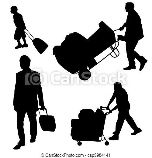 baggage handling - csp3984141