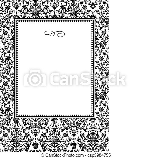 Vector Complex Pattern and Frame - csp3984755