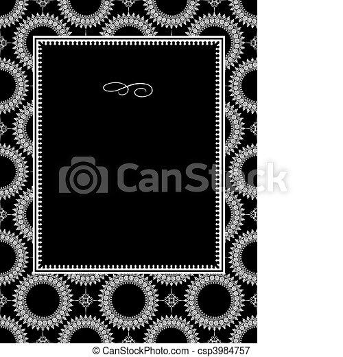 Vector Circle Ornament Frame - csp3984757