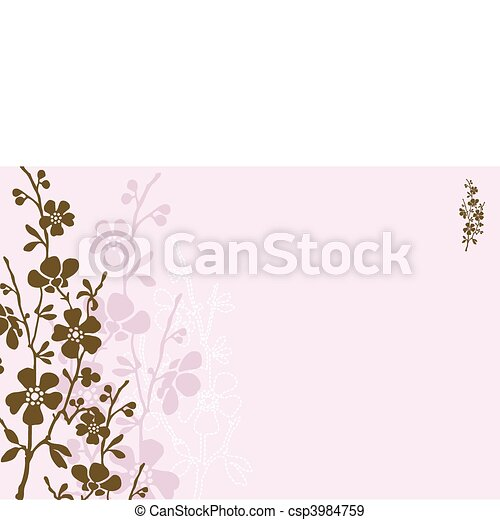 Vector Pastel Daisy Background - csp3984759