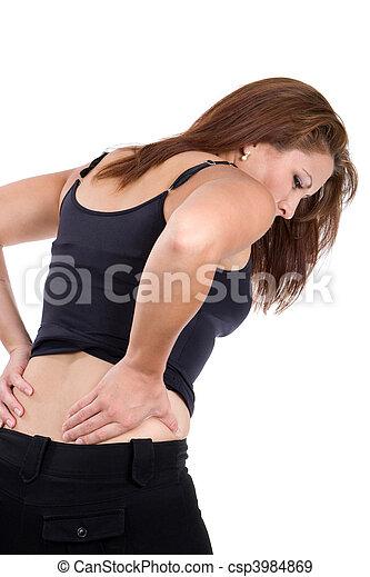 脊髓, 婦女, 傷害 - csp3984869