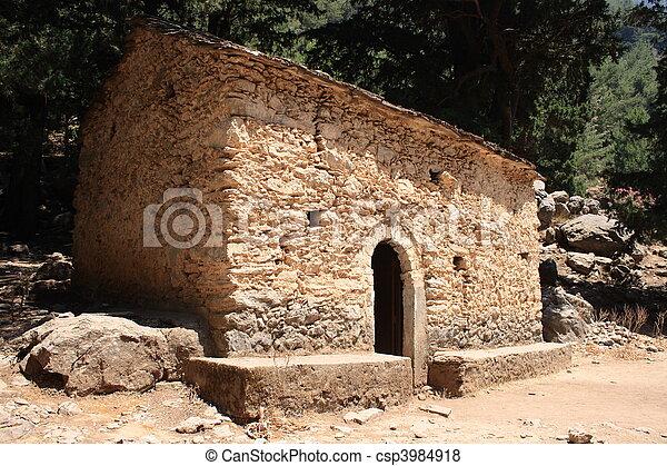 希腊的教堂 - csp3984918