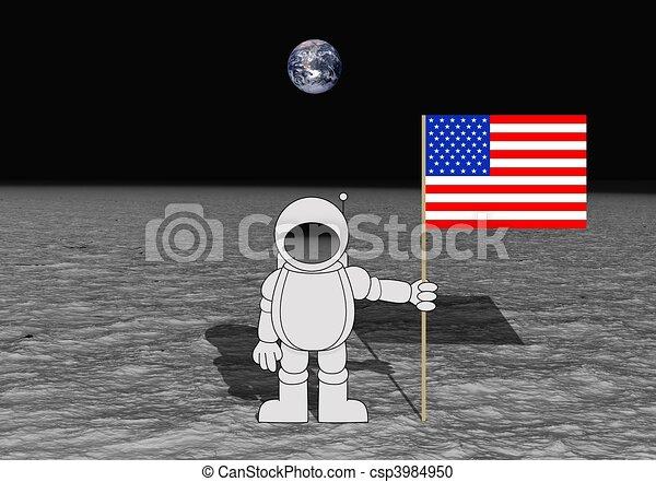 Moon Landing Stock Illustration - Instant Download ...