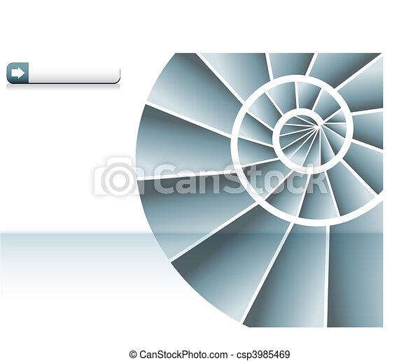 Spiral Staircase Chart - csp3985469
