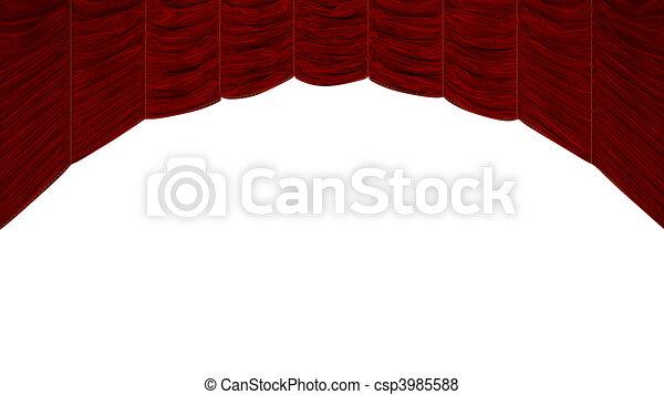 Gardin, båge, röd, Format - csp3985588