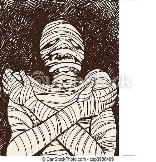Creepy Mummy - csp3986409
