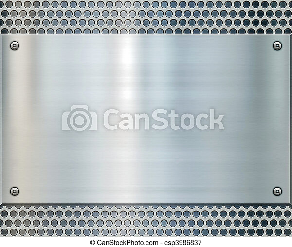 shiny metal background texture - csp3986837