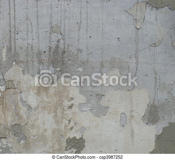 dirty gray wall with odd upwards drips - csp3987252