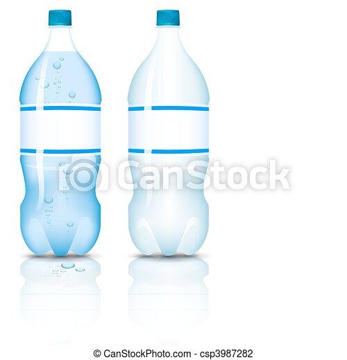 Plastic bottle of clean water. - csp3987282