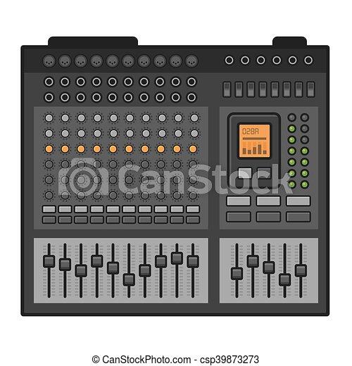Studio Sound Mixer. Music Equalizer Console. Vector - csp39873273