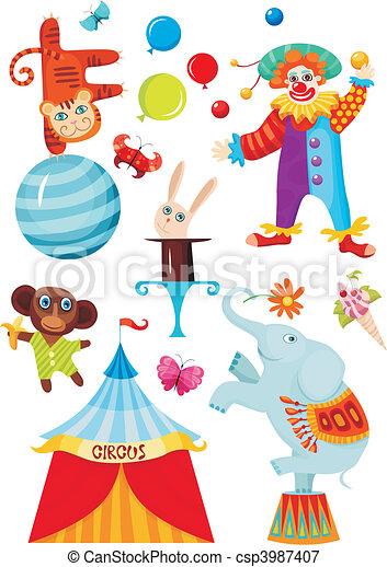 circus set - csp3987407