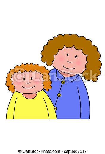 Mom and Daughter - csp3987517