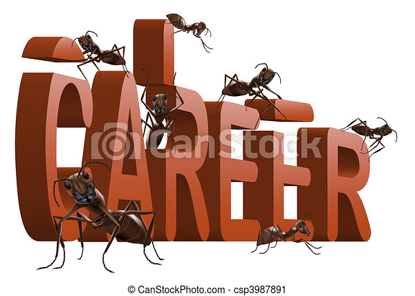 ants building career - csp3987891