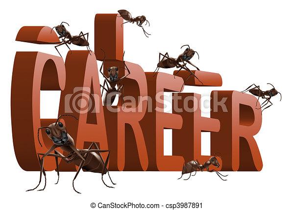 ants building career - csp3987891