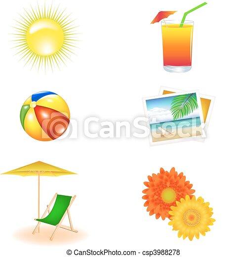 Beach Vector Set - csp3988278